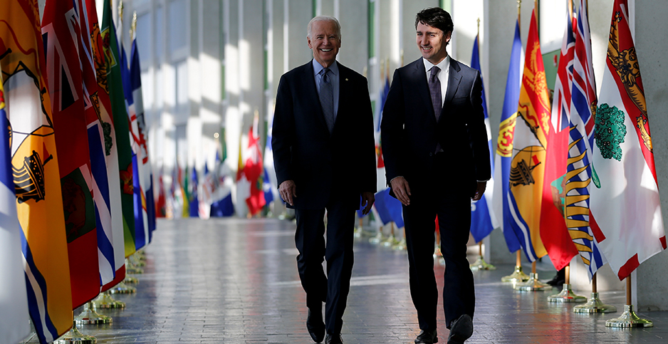 Joe Biden and Justin Trudeau. Photo credit: Chris Wattie/REUTERS/Newscom