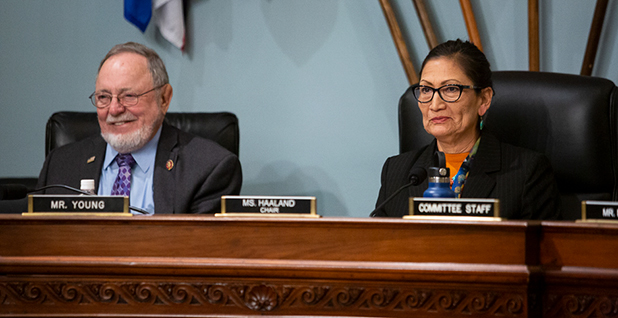 Reps. Don Young (R-Alaska) and Deb Haaland (D-N.M.). Photo credit: Francis Chung/E&E News