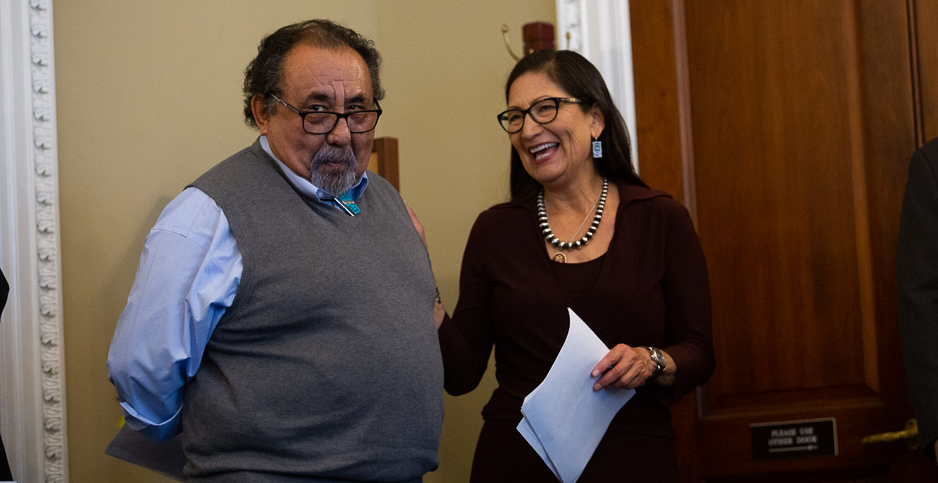 Reps. Raul Grijalva (D-Ariz.) and Deb Haaland (D-N.M.). Photo credit: Francis Chung/E&E News