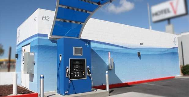 A hydrogen fueling station. Photo credit: California Fuel Cell Partnership