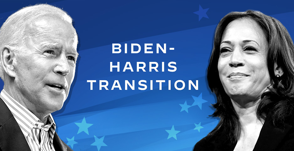 Biden Harris Transition image. Credits: Claudine Hellmuth/E&E News(graphic); Gage Skidmore/Flickr(Biden and Harris)