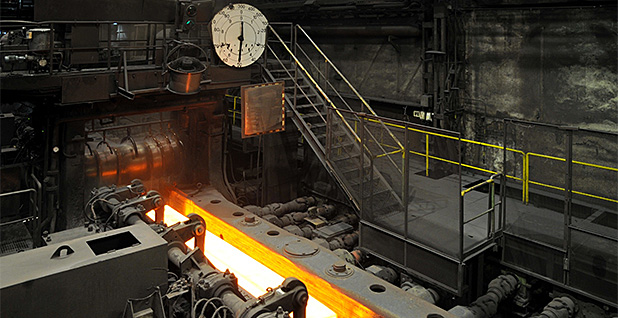 The interior of a steel factory. Photo credit: Schmimi1848/Wikipedia