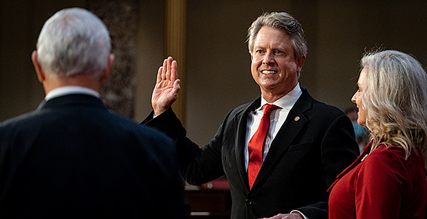 Sen. Roger Marshall (R-Kan.). Photo credit: Pete Marovich/Pool via CNP/picture alliance/Consolidated News Photos/Newscom
