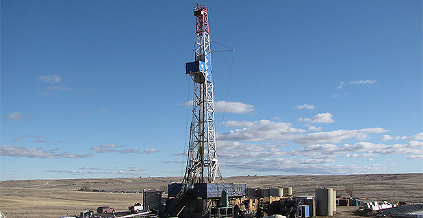 A drilling rig in Wyoming. Photo credit: BLM Wyoming/Flickr