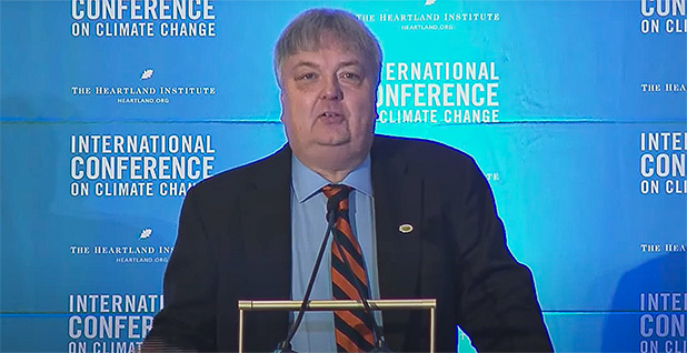 David Legates. Photo credit: The Heartland Institute/Youtube
