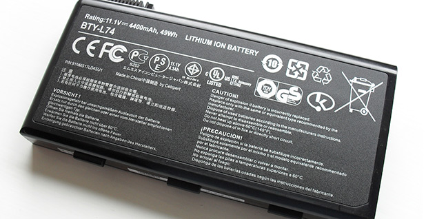 Lithium-ion battery. Photo credit: Kristoferb/Wikimedia Commons