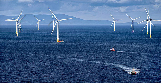Offshore wind turbines. Photo credit: Department of Energy