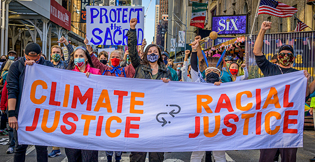 Climate justice march. Photo credit: Erik McGregor/Sipa USA/Newscom