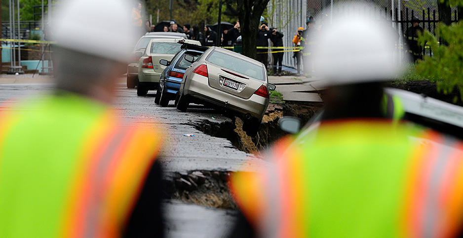 Baltimore storm damage. Photo credit: Associated Press