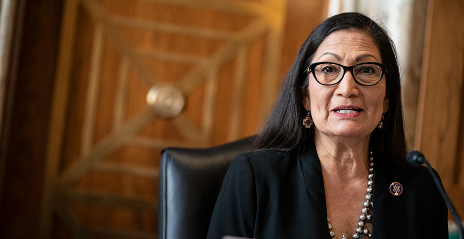 Interior nominee Deb Haaland testifies before the Senate
