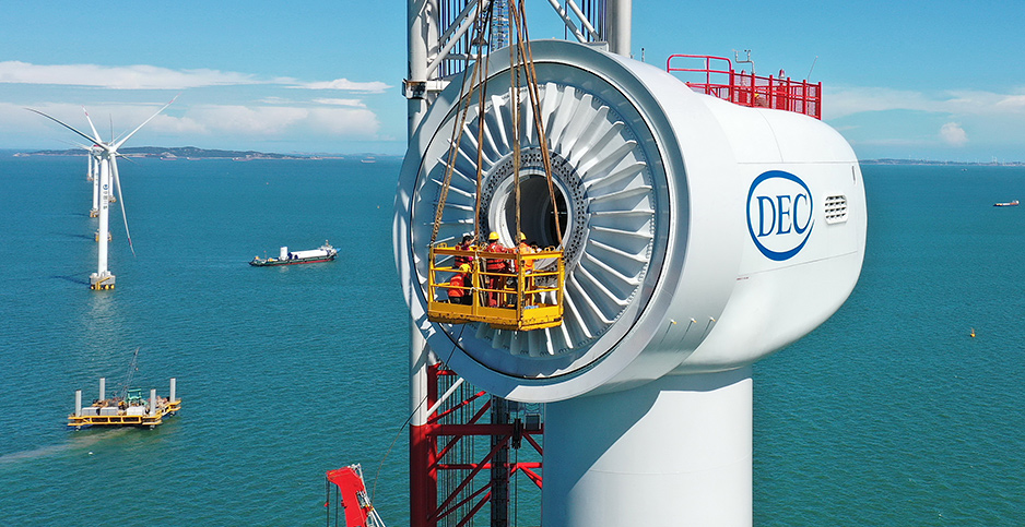 Offshore wind installation in China. Photo credit: Lin Shanchuan Xinhua News Agency/Newscom