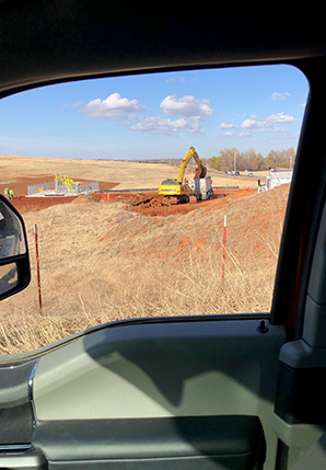 Construction activity on a family farm. Photo credit: McComas/via FERC