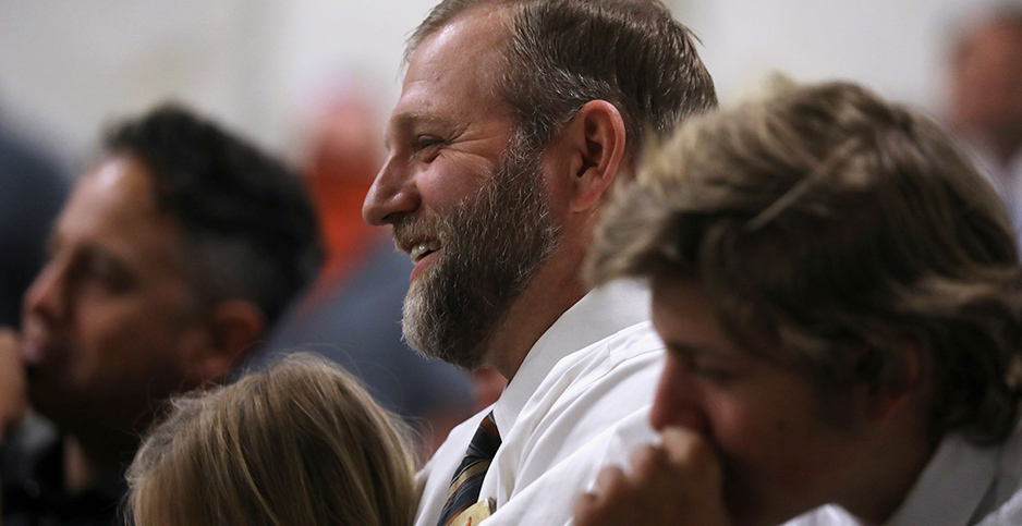 Ammon Bundy, pictured at an Easter Sunday church service last year. Photo credit: Jim Urquhart/Reuters/Newscom