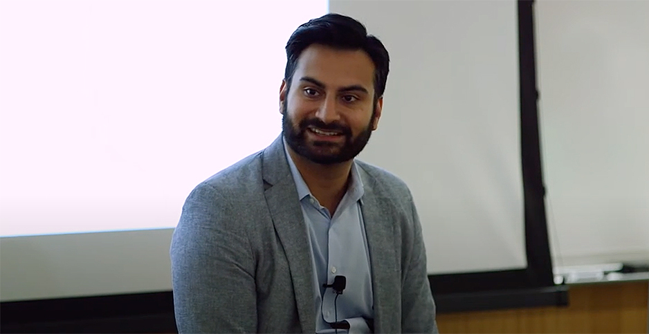 Ali Zaidi. Photo credit: Stanford ENERGY/YouTube