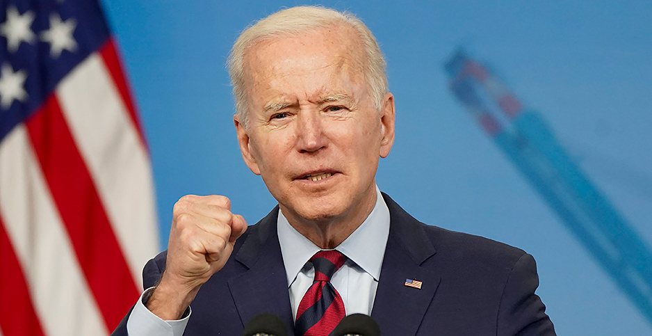 President Joe Biden is expected to soon issue an executive order on climate finance. Photo credit: CNP/AdMedia/Newscom