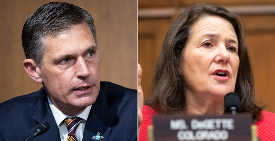 Sen. Martin Heinrich (D-N.M.) and Rep. Diana DeGette (D-Colo.). Photo credit: Francis Chung/E&E News