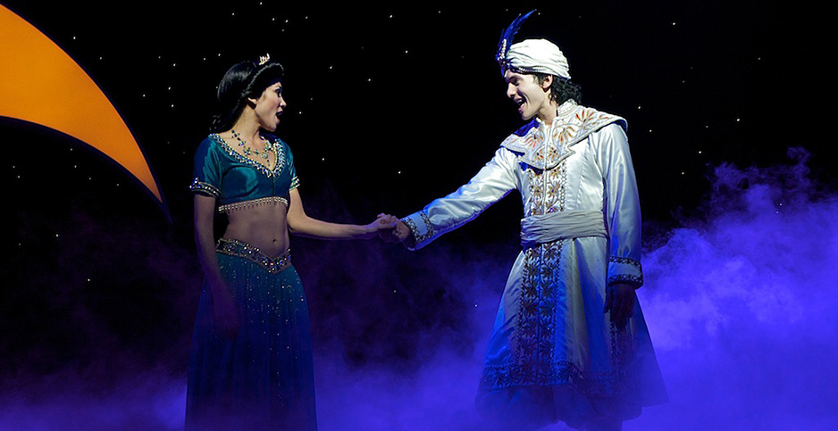 """""""Disney's Aladdin: A Musical Spectacular"""" at the Disneyland Resort in California, 2010. Photo credit: atmtx/Flickr"""