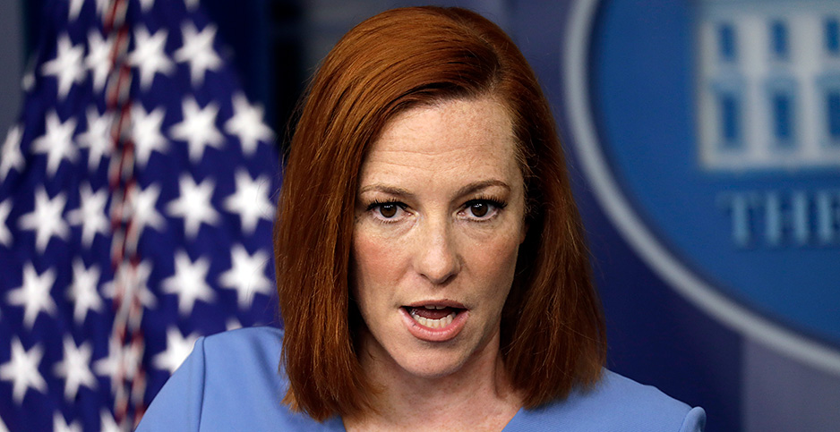 Jen Psaki. Photo credit: Yuri Gripas - Pool Via Cnp/ZUMAPRESS/Newscom