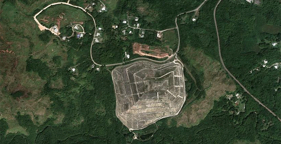 Ordot Dump satellite image. Photo credit: © 2021 Google