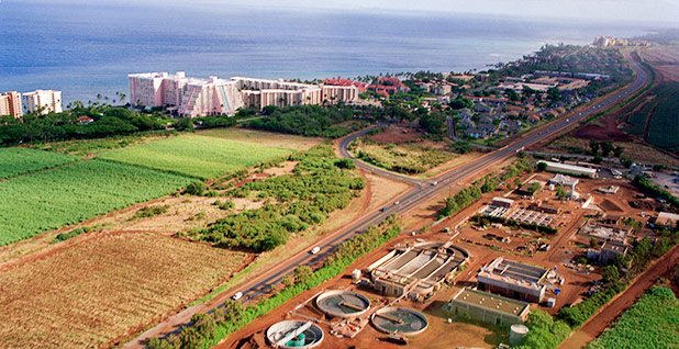 The Maui County, Hawaii, wastewater treatment facilities. Photo credit: Warren Gretz/National Renewable Energy Laboratory