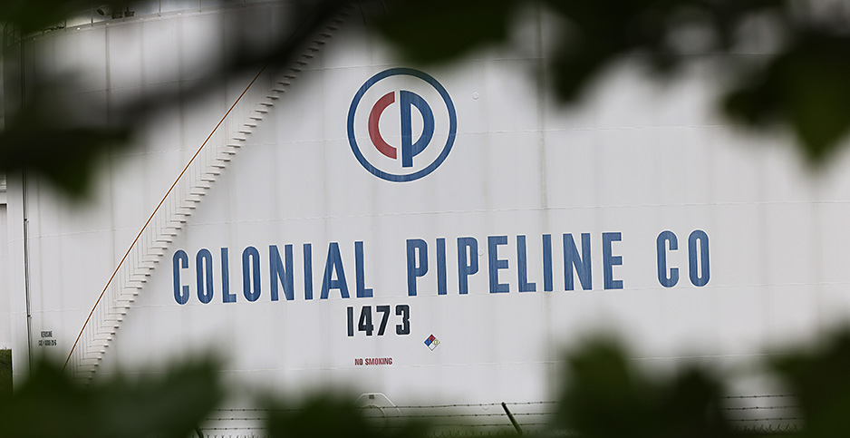 Colonial Pipeline fuel holding tanks. Photo credit: Michael M. Santiago/Getty Images