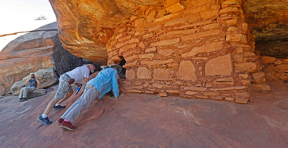 Visitors at Bears Ears National Monument. Photo credit: George Frey/Getty Images